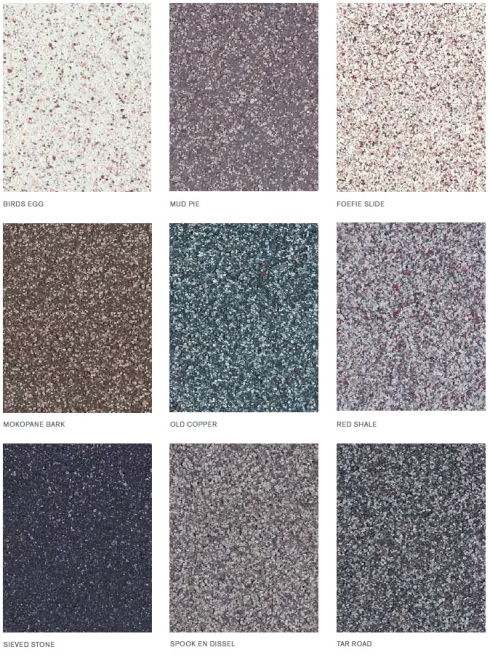 Earthcote Granite Paint Colour Card